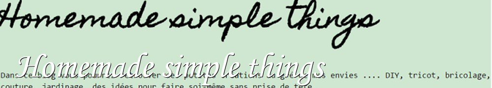 On Aime Faire - Homemade simple things
