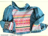 Customiser une veste en jean avec un tissu éthnique - Tuto (Customize a denim jacket with an ethnic fabric - diy)
