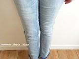 Faire un jean effiloché tuto / diy #jean #denim
