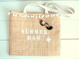 Sac de plage en raphia homemade - Tuto (Beach bag made in raffia - diy)