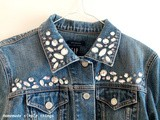 Veste en jean avec des strass (Denim jacket with rhinestones)