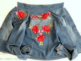 Veste en jean brodée pour débutante (Embroidered denim jacket for beginners)