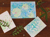 Diy : Des cartes impression florale