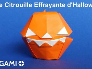 Id es et tutos d 39 origami - Citrouille effrayante ...